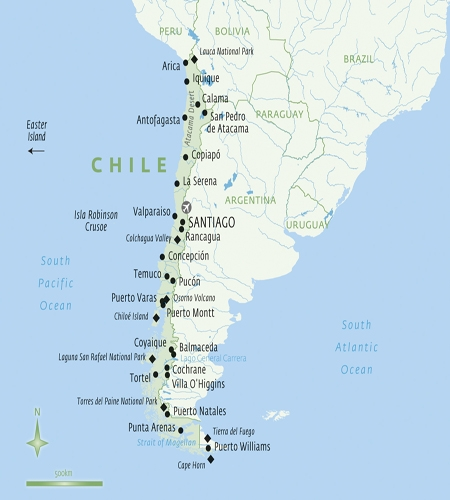 Chile A Travellers Guide Holiday Articles Luxury Tailor - Chile cities maps