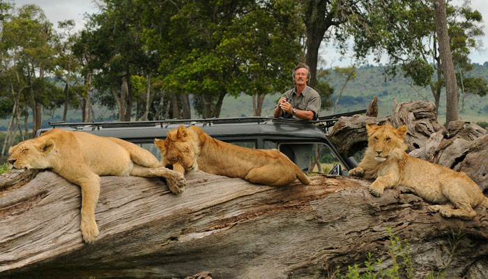Jonathan Scott with the Marsh Lions, Kenya