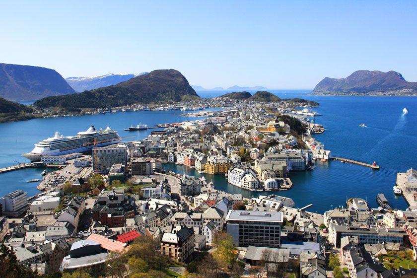 Alesund, fjord Norway