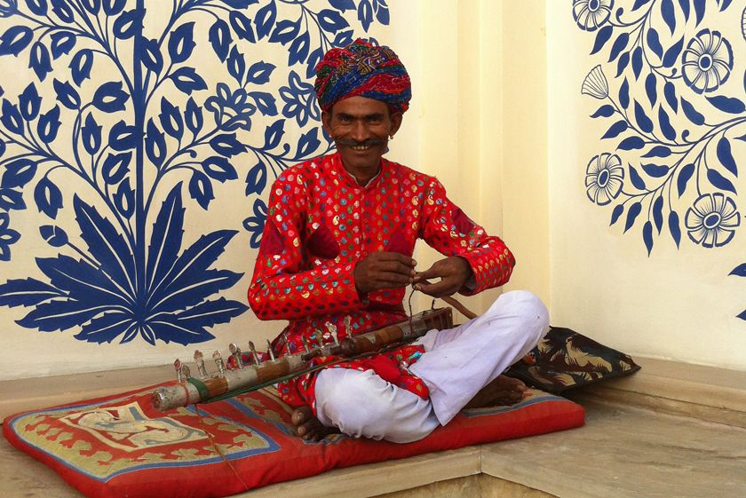Smiling musician, India
