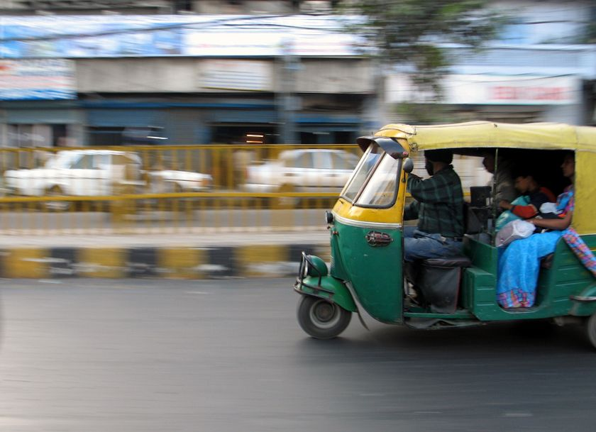 Rickshaw, Delhi, India