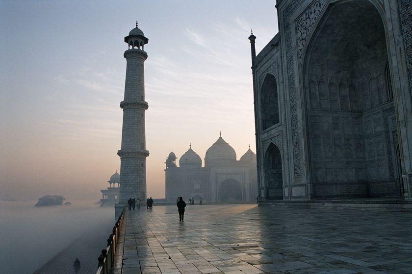 Taj Mahal, India at sunrise