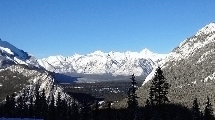 View from Sulphur Mountain, Banff, Canada