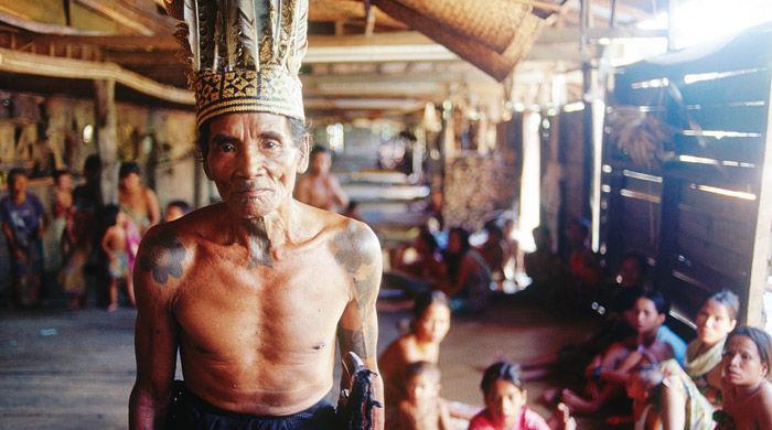 Iban Chief, Sarawak, Malaysia