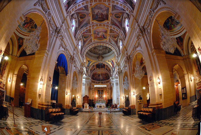 Impressive church architecture, Malta