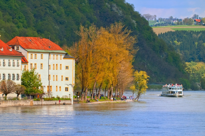 Admire the scenery up close on a river cruise