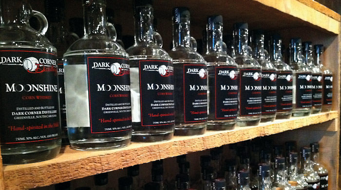 Bottles of Moonshine