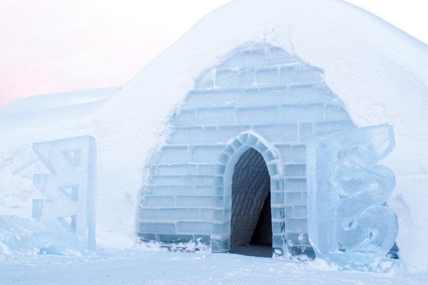 Ice hotel Lainio Village