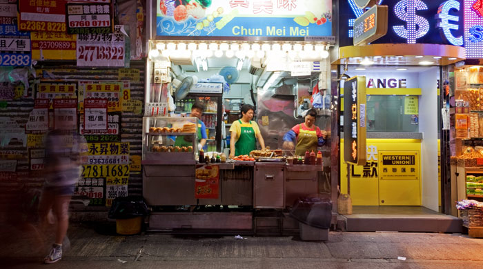 Street food stall, Hong Kong