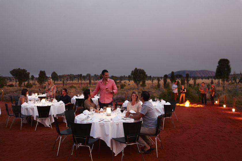 Sounds of Silence dinner, Uluru, Australia