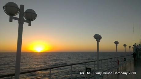 Sunset on deck