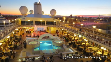 Azamara White Night Deck Party