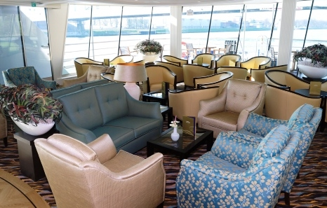 The lounge on board AmaLyra