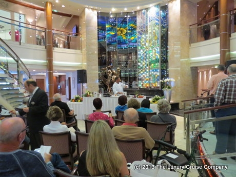 Cooking demonstration on Crystal Serenity