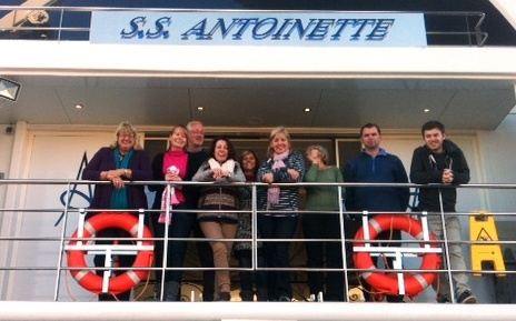 The Group on board SS Antoinette