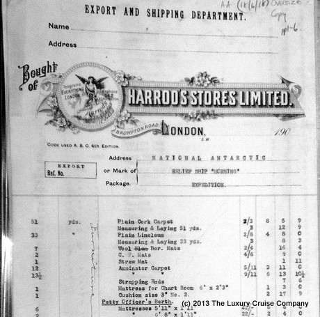 Harrods Order Form