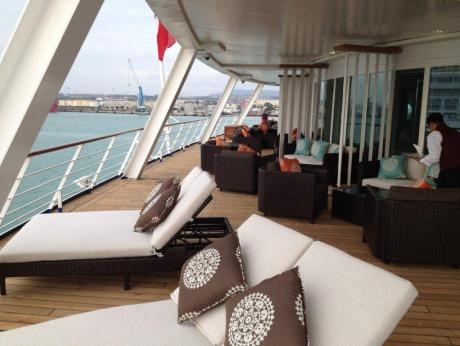 New deck furniture on Seven Seas Voyager