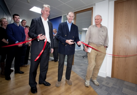 Sir Ranulph Fiennes opening the Wexas office