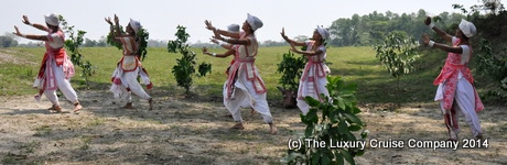Majuli dancers, Majuli Island, Assam, India