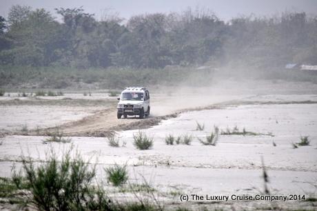 Along the dusty road, Majuli Island, Assam, India