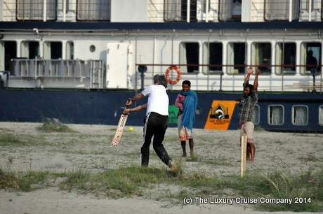 Sanjay playing cricket