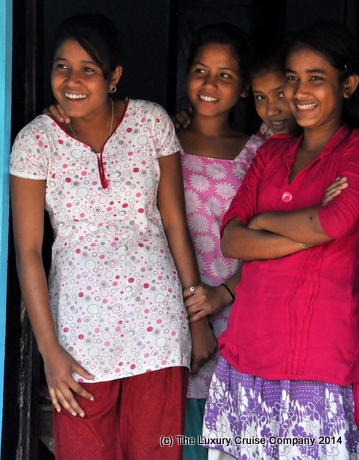 Lovely smiles, Bishwanath Ghat