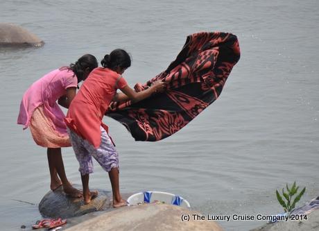Washing on the Brahmaputra River
