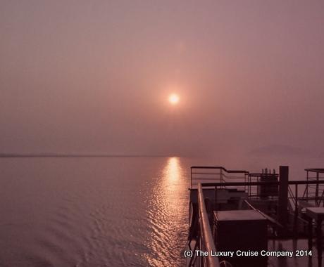 Sunrise on the Brahmaputra River