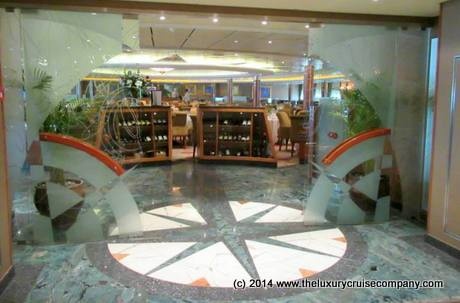 Entrance to Compass Rose Restaurant