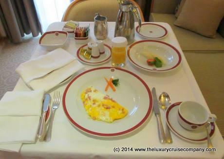 In Suite Breakfast - Regent Seven Seas Voyager