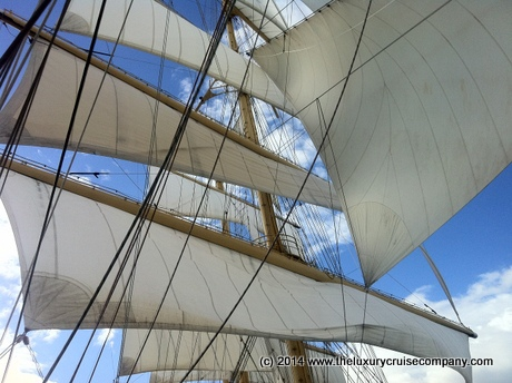 Sailing away from St Lucia - Royal Clipper