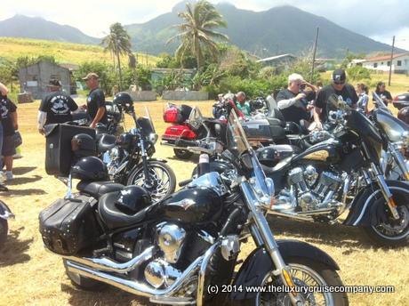 Harley Davidsons on St Kitts