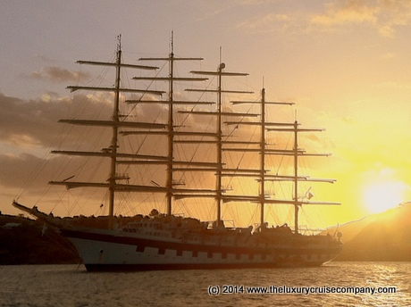 Royal Clipper in full sail