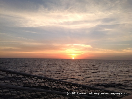 Sunset on Royal Clipper