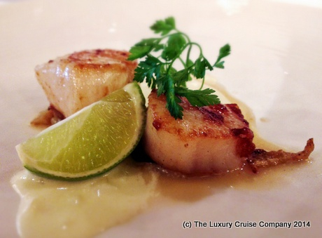 Sauteed Scallops with Lime Sauce