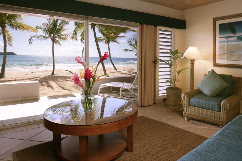 Beachfront room, Curtain Bluff, Antigua