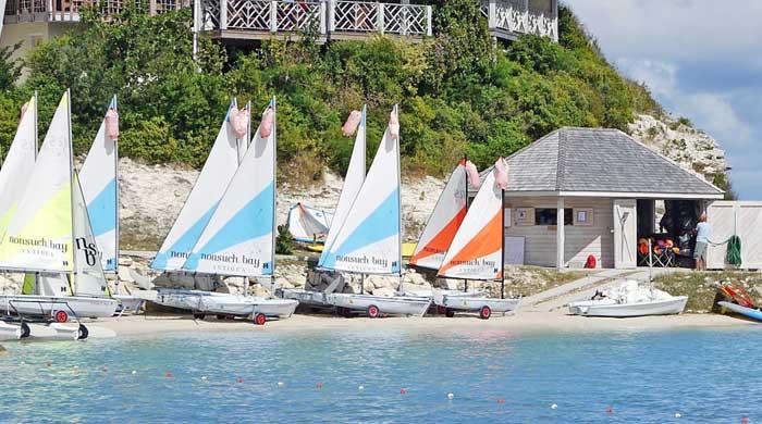 Sailing school at Nonsuch Bay, Antigua