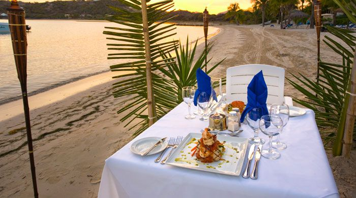 Beach dining, St James