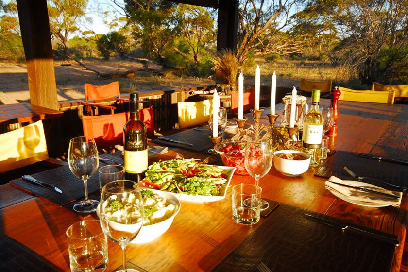Dining at Kangaluna Camp