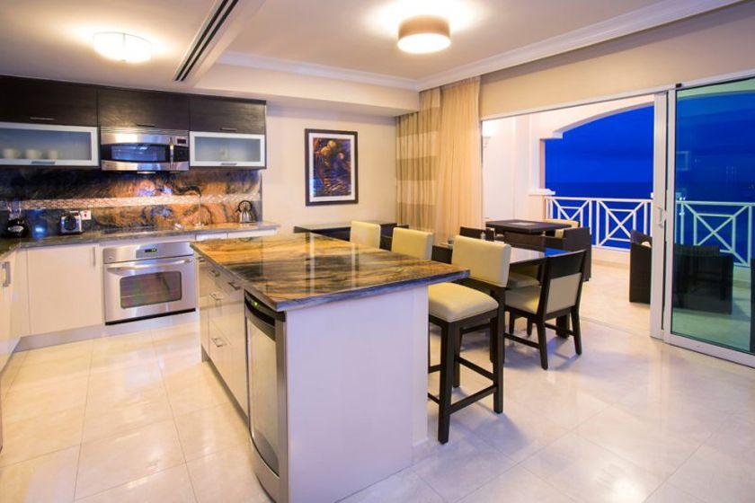 Apartment kitchen at Ocean Two, Barbados