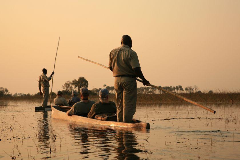 Mokoro dugout canoe, Okavango Delta, Botswana