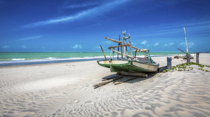 Beautiful beach near Fortaleza, Brazil