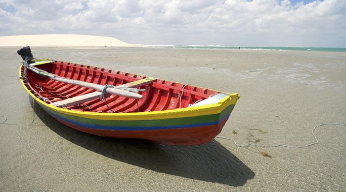 Fishing boat, Jericoacoara Beach, Brazil