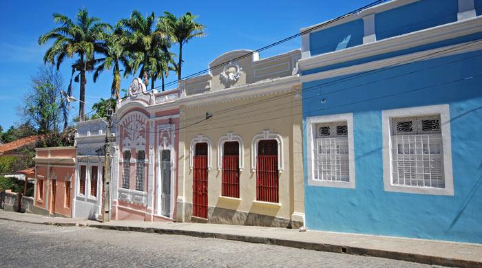 Colourful houses, Olinda, Brazil