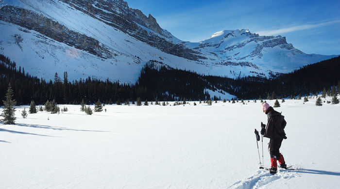 Snowshoeing, Banff, Canada