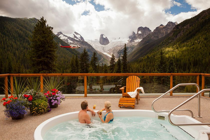 Jacuzzi at Bugaboo