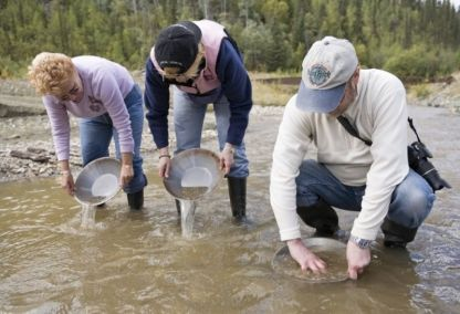 Panning for gold, Yukon