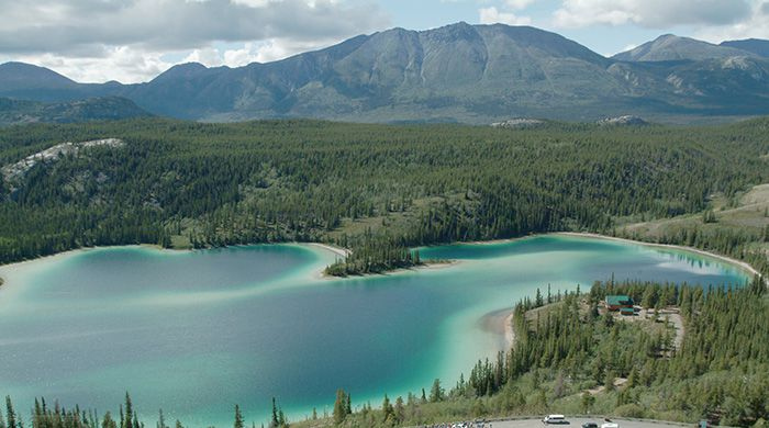 Emerald Lake on the South Klondike Highway, courtesy Gov of Yukon