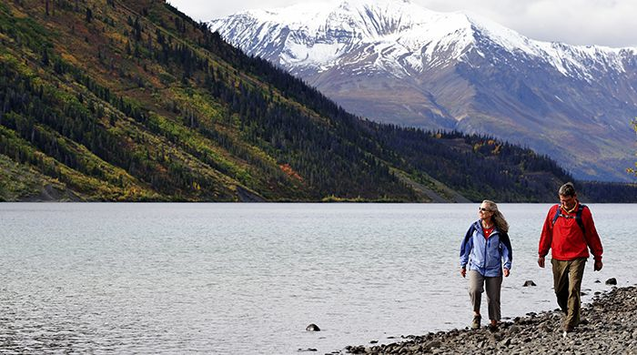 Hiking at Kathleen Lake Kluane National Park, courtesy Gov of Yukon, D Crowe
