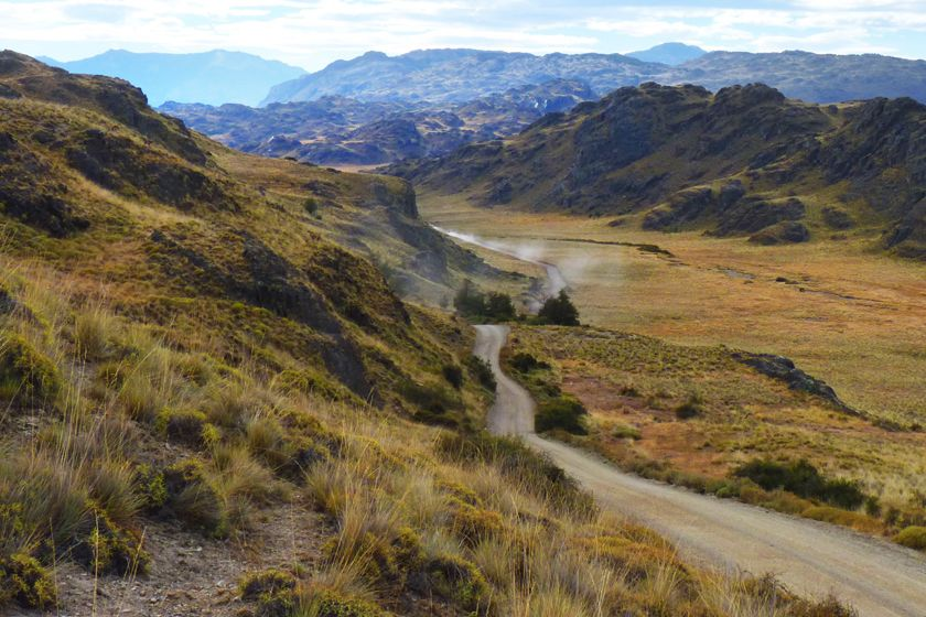 Road to Lodge at Valle Chacabuco